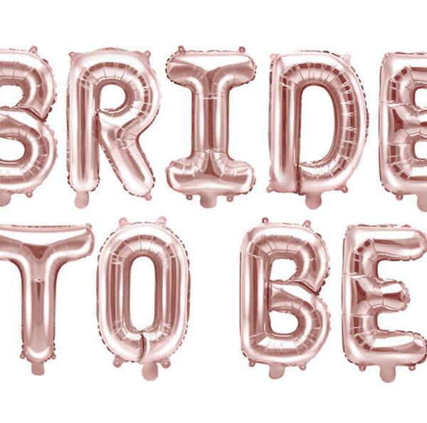 BALON RÓŻOWE ZŁOTO BRIDE TO BE 340X35 CM