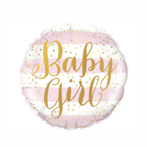 BALON FOLIOWY BABY GIRL 46 CM