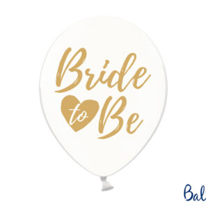 BALON BRIDE TO BE ZŁOTY 30 CM