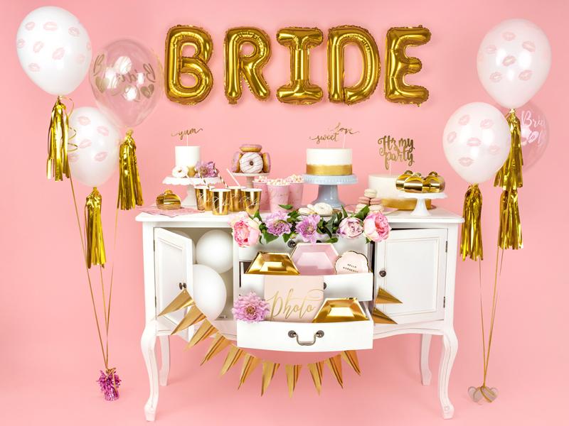 BALON BRIDE TO BE ZŁOTY 30 CM