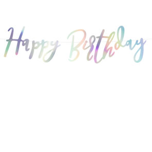 BANER HAPPY BIRTHDAY OPALIZUJĄCY