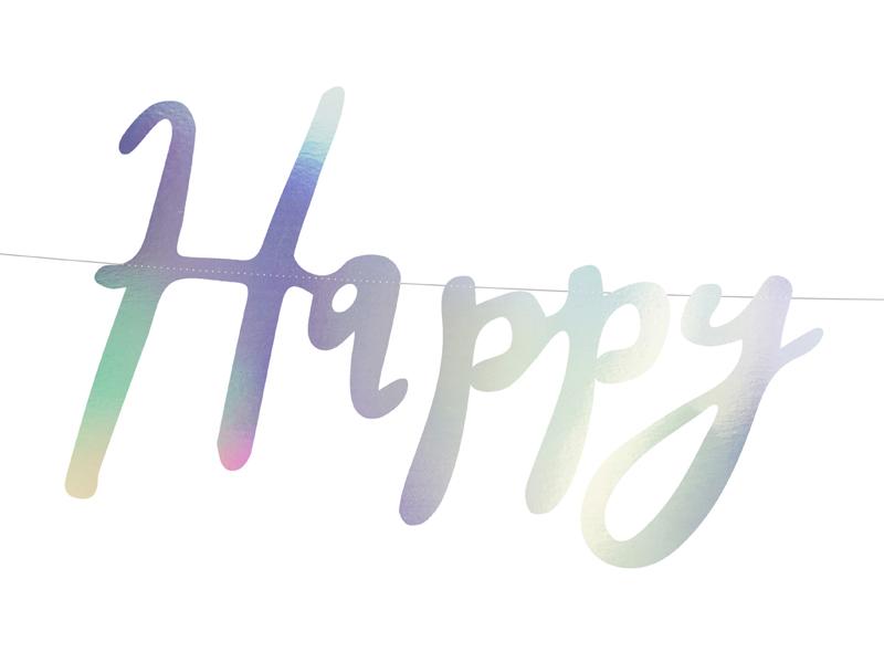 BANER HAPPY BIRTHDAY OPALIZUJĄCY