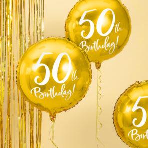 BALON FOLIOWY 50TH BIRTHDAY 45 CM