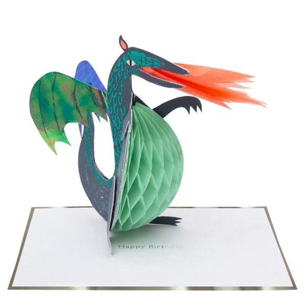 KARTKA URODZINOWA 3D SMOK MERI MERI