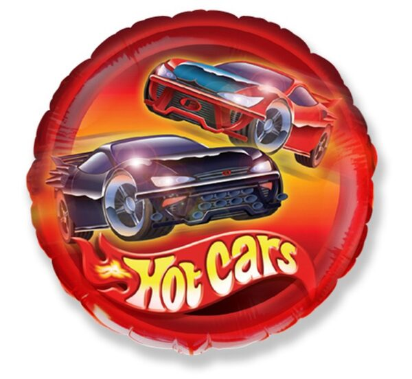 BALON FOLIOWY HOT CARS 46 CM