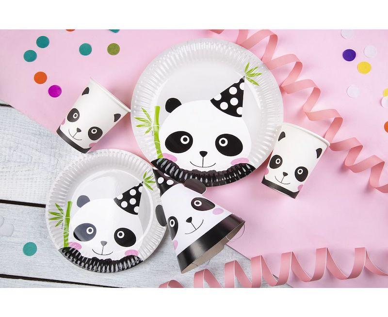 KUBECZKI PAPIEROWE PANDA