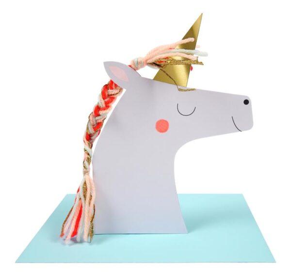 KARTKA URODZINOWA 3D JEDNOROŻEC MERI MERI