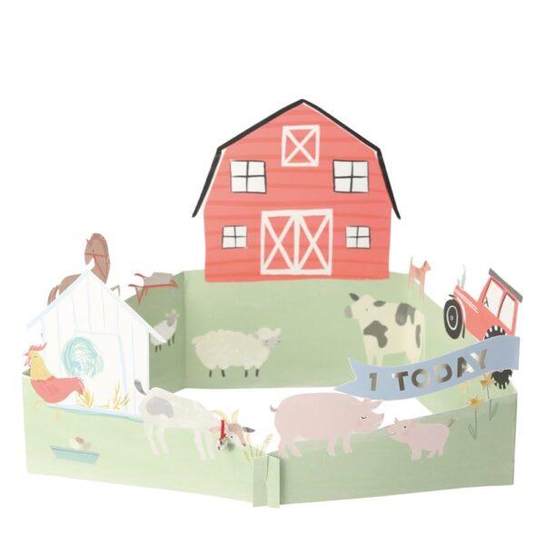 KARTKA 3D FARMA MERI MERI 2