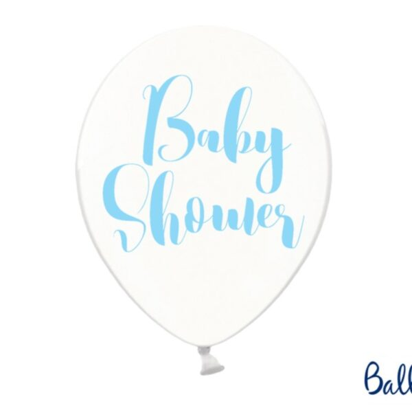 BALON BABY SHOWER NIEBIESKI 30 CM