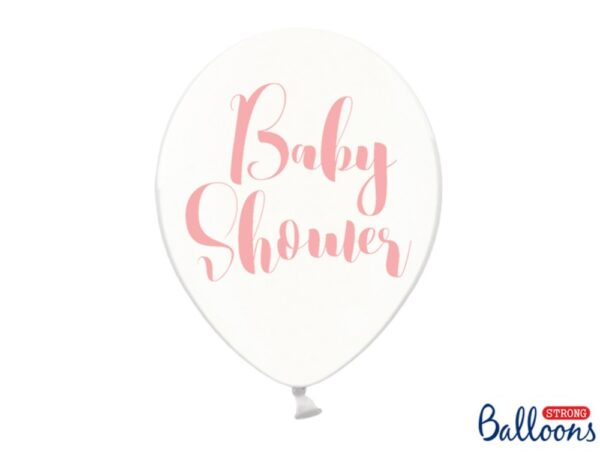 BALON BABY SHOWER RÓŻOWY 30 CM 1