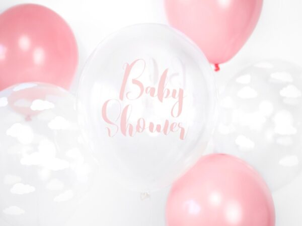 BALON BABY SHOWER RÓŻOWY 30 CM 2