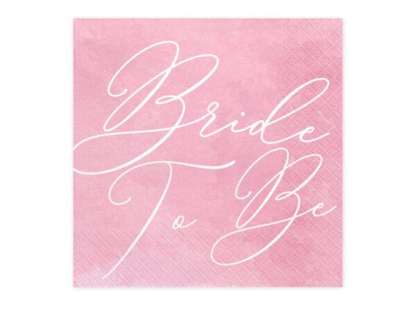 SERWETKI RÓŻOWE BRIDE TO BE 4
