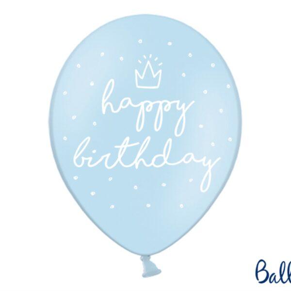 BALON BŁĘKITNY HAPPY BIRTHDAY 30 CM