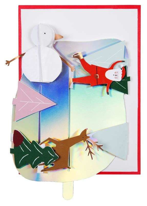 KARTKA ŚWIĄTECZNA 3D LODOWISKO MERI MERI