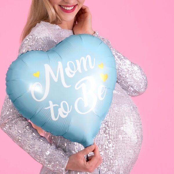 BALON MOM TO BE NIEBIESKI