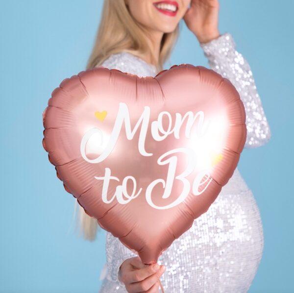 BALON MOM TO BE RÓŻOWY