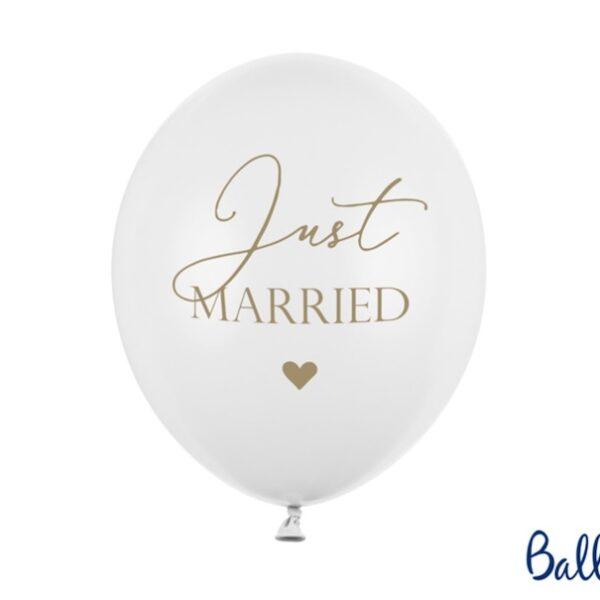 BALON BIAŁY JUST MARRIED 30 CM