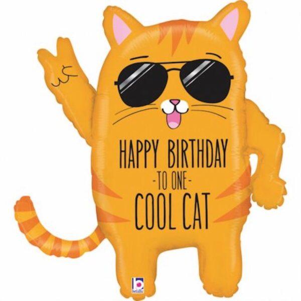 BALON COOL CAT BIRTHDAY